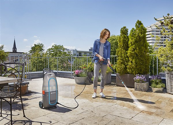 The portable cleaning solution for outdoor areas