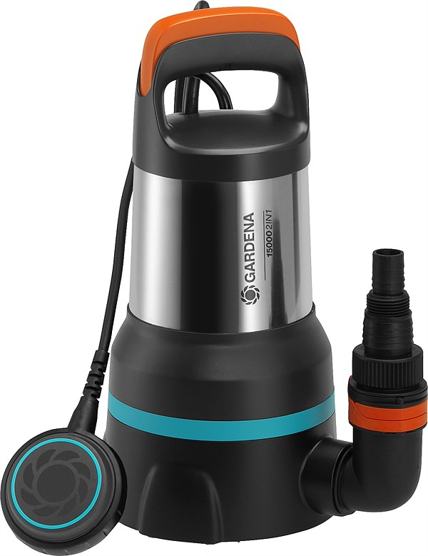 GARDENA 2in1 Clear/Dirty Water Submersible Pump 15000